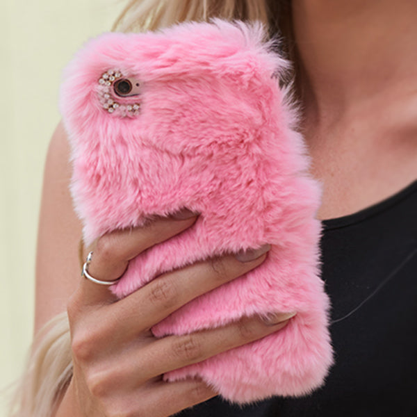Fur Light Pink Case Samsung S8