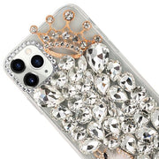 Handmade Bling Silver Fox Case  IPhone 12/12 Pro