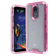 Hybrid Clear Pink Case LG K40 - Bling Cases.com