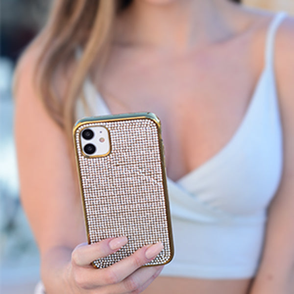 Bling Tpu Skin Silver Gold Case IPhone 12/12 Pro