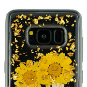 Real Flowers Yellow Flake Samsung S8 - Bling Cases.com