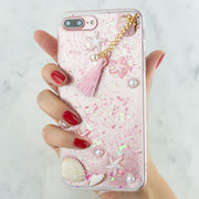 Seashells Clear Case Iphone 7/8 Plus - Bling Cases.com