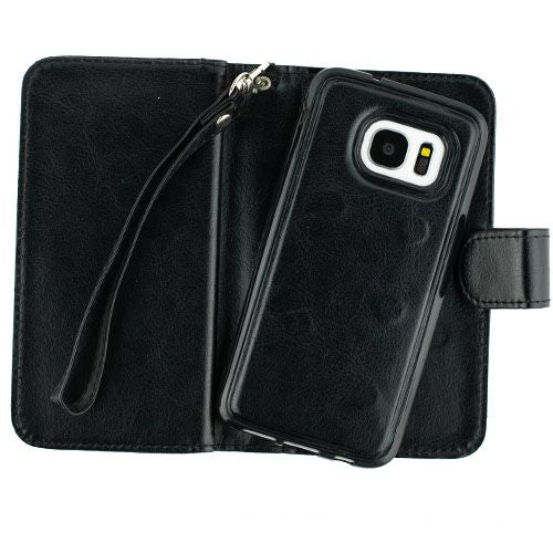 Detachable Black Wallet Samsung S7 - Bling Cases.com