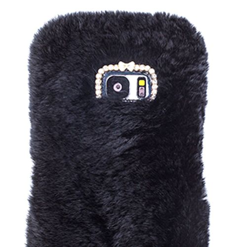 Fur Case Black Samsung S7