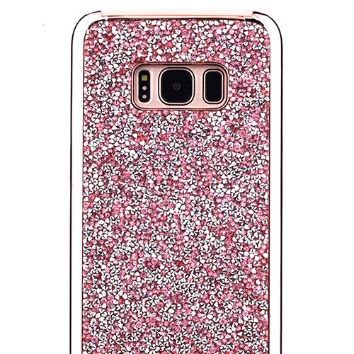 Hybrid Bling Case Pink Samsung S8 - Bling Cases.com