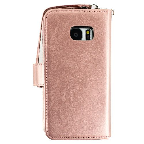 Detachable Rose Gold Wallet Samsung S7 Edge - Bling Cases.com