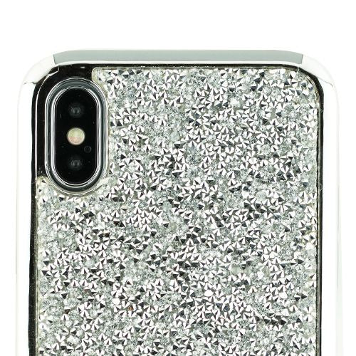 Hybrid Bling Silver Case Iphone 10/X/XS - Bling Cases.com