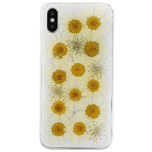 Real Flowers White Case Iphone XS MAX - Bling Cases.com