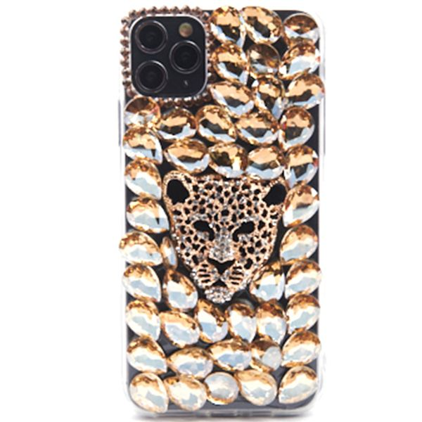 Handmade Cheetah Bling Gold Case Iphone 11 Pro