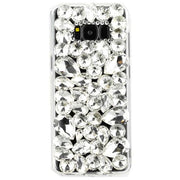 Handmade Bling Silver Stones Samsung S8 Plus - Bling Cases.com