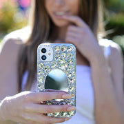 Handmade Bling Mirror Silver Case Iphone 11