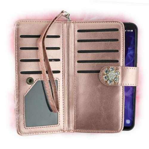 Fur Detachable Wallet Light Pink Samsung S9 Plus