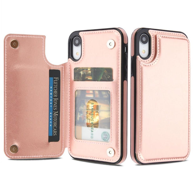 Back Book Card Case Rose Gold Iphone XR - Bling Cases.com