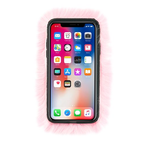 Fur Case Light Pink Iphone XS MAX - Bling Cases.com