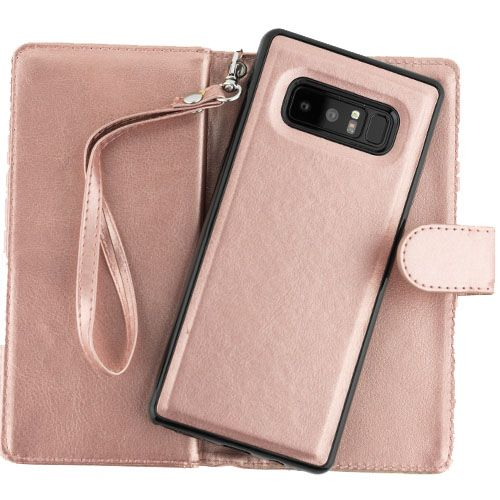 Detachable Wallet Rose Gold Note 8 - Bling Cases.com