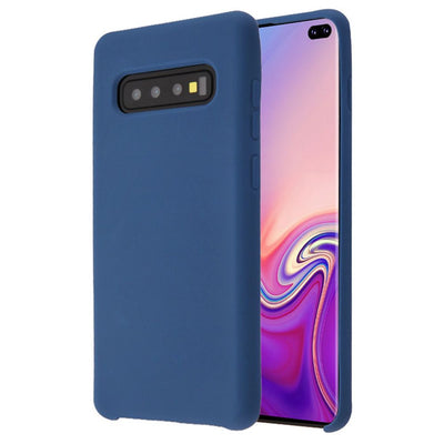 Silicone Skin Blue Samsung S10 Plus - Bling Cases.com