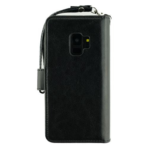 Detachable Black Wallet Detachable Samsung S9