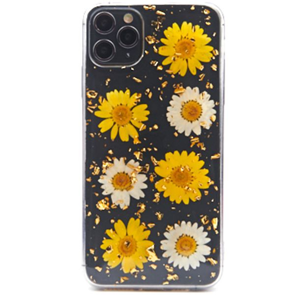 Real Flowers Yellow Flake Case Iphone 11 Pro Max