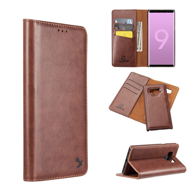 Detachable Wallet Brown Samsung Note 9 - Bling Cases.com