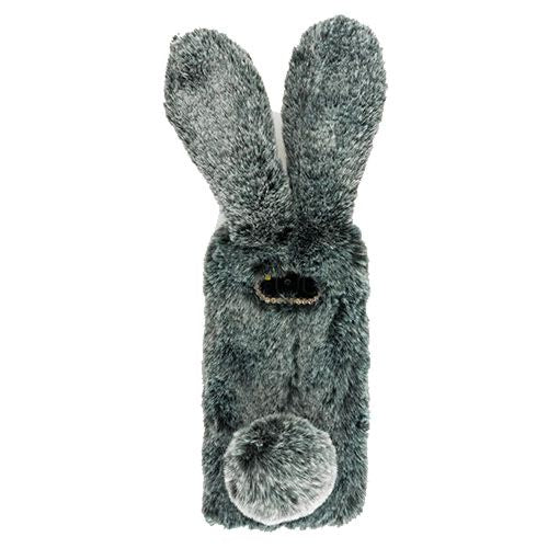Bunny Fur Grey Case Samsung S8 Plus - Bling Cases.com