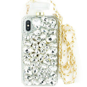 Handmade Silver Stone Bling Bottle Iphone X XS 10