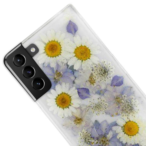 Real Flowers Purple Case Samsung S21