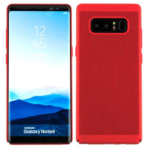 Super Thin Rubberized Red Case Note 8 - Bling Cases.com