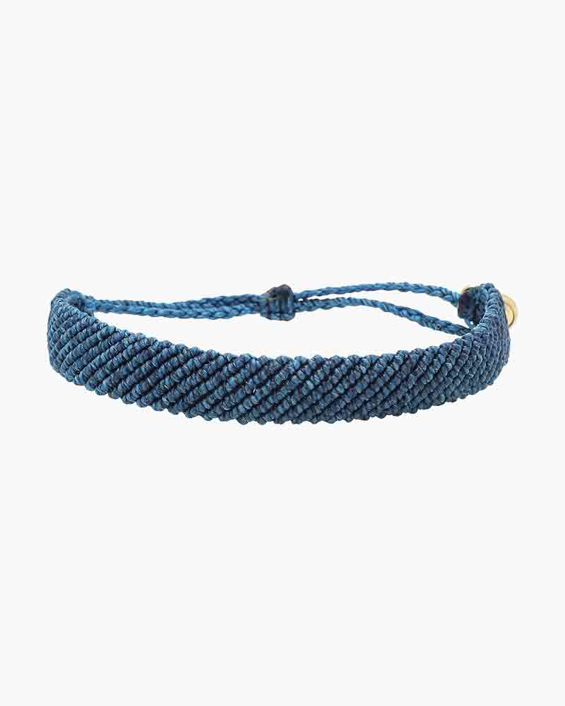 Blue Flat Braided Bracelet