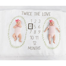 Load image into Gallery viewer, Twins Milestone Blanket