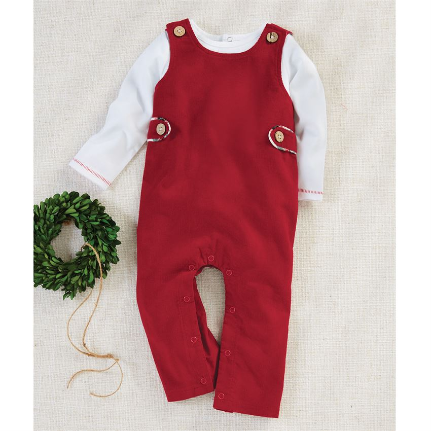 Red Corduroy Longall Set