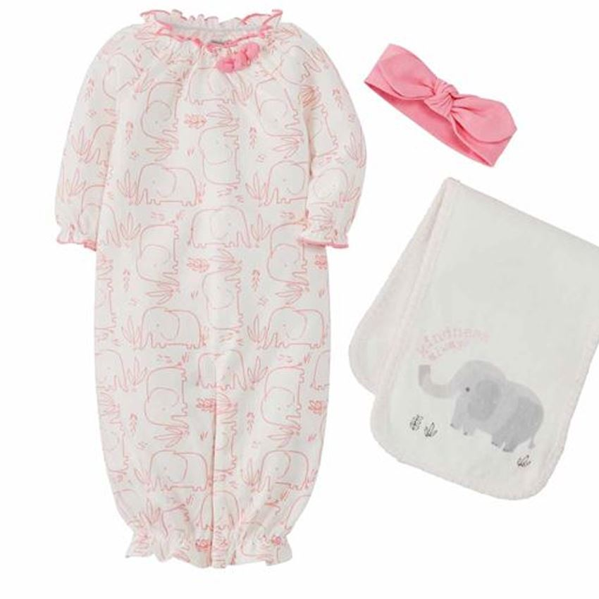 Elephant Gown Burp Headband