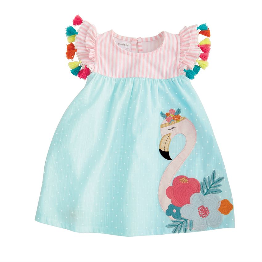 Flamingo Tassel Dress