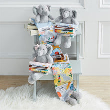 Load image into Gallery viewer, Blue Elephant Plush Book