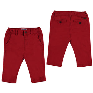 Red Basic Trousers
