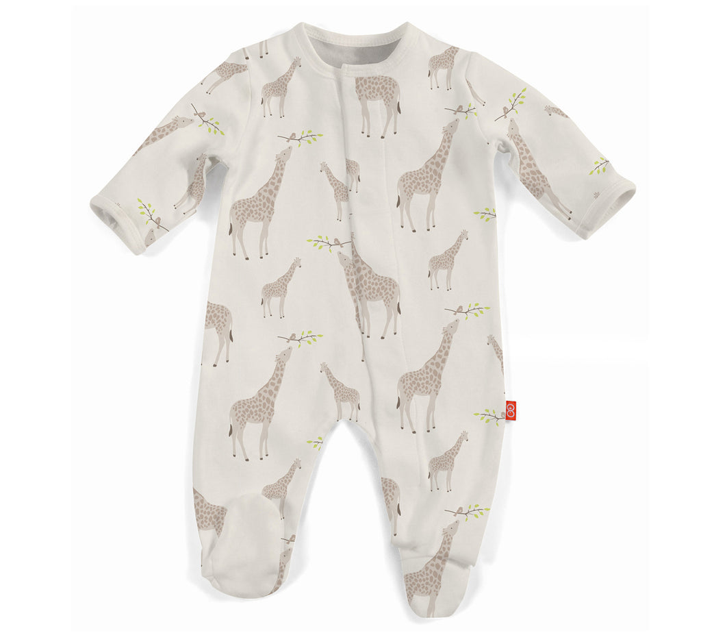 Cream Jolie Giraffe Magnetic Footie