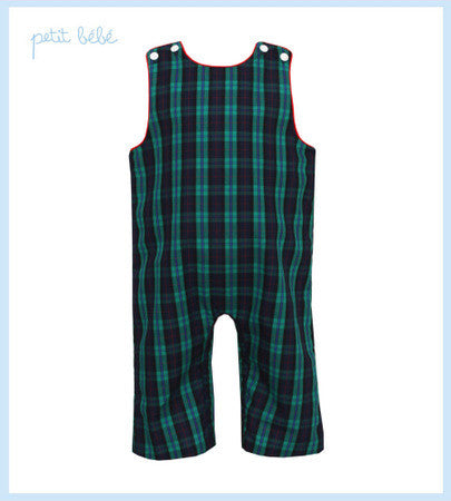 Petit Bebe Green Plaid Jon Jon