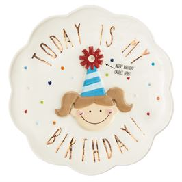 Birthday Girl Candle Plate