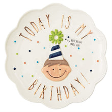 Load image into Gallery viewer, Birthday Boy Ceramic Candle Plate