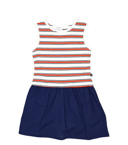 July Red, White & Blue Jersey Woven Mix Dress