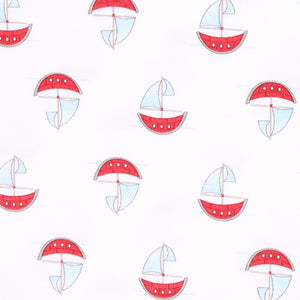 Sailboat Light Blue Printed Converter & Hat (3m/6m)