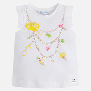 Ice Cream Strass Tank Top