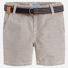 Load image into Gallery viewer, Striped Shorts w/belt