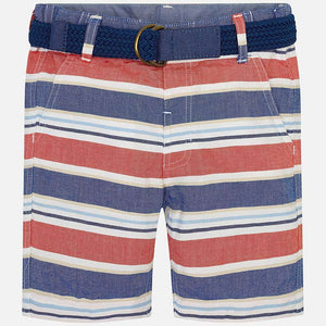 Fiesta Striped Bermuda With Belt