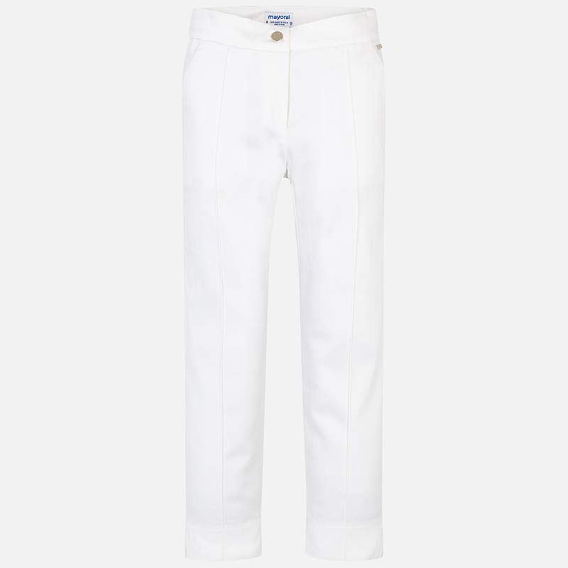 White Satin Trousers