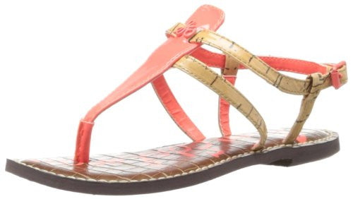 Gia Neon Coral Sandals by Sam Edelman