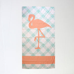 Flamingo Aqua/Coral Giant Beach Towel