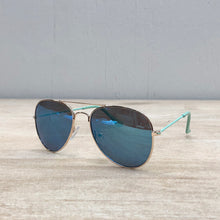 Load image into Gallery viewer, Mint & Blue Mirror Aviator Sunglasses