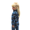 Blue, Navy & Yellow Girls Flannel Shirt