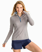 Load image into Gallery viewer, Heather Grey Skipjack Athletic Q Zip
