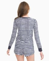 Load image into Gallery viewer, Lettie Sleep Top Nautical Navy